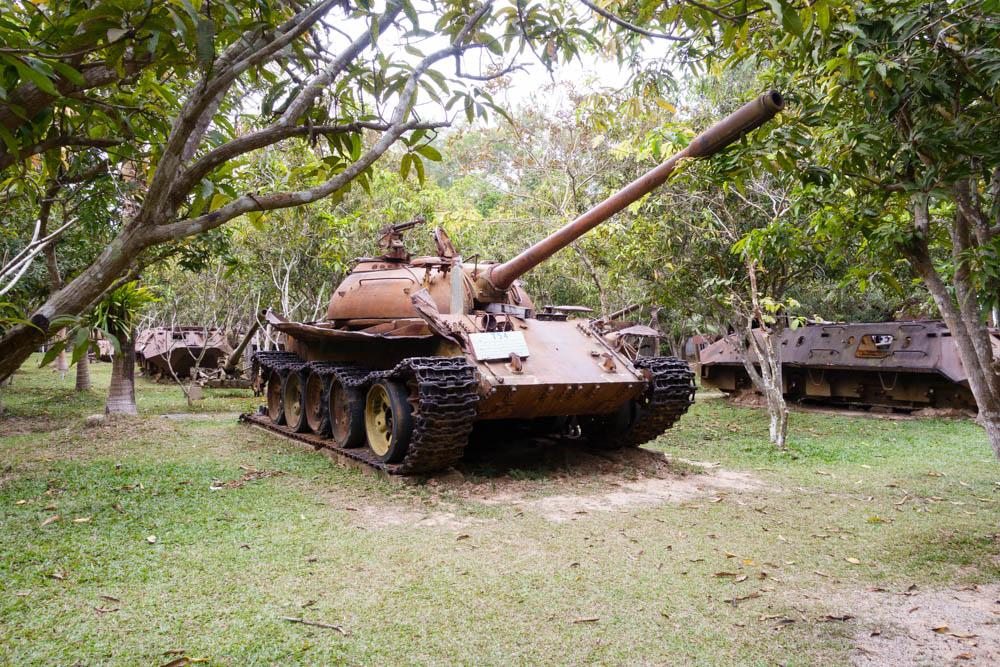 Tank at Cambodia War Museum