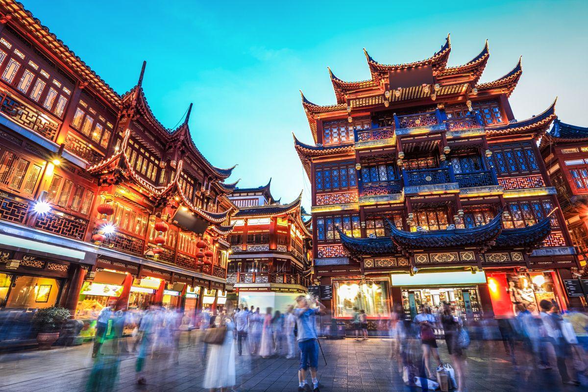View of the Yu Yuan Garden in Shanghai China