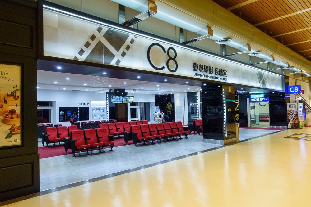 View of C8 Gate at Taipei Airport