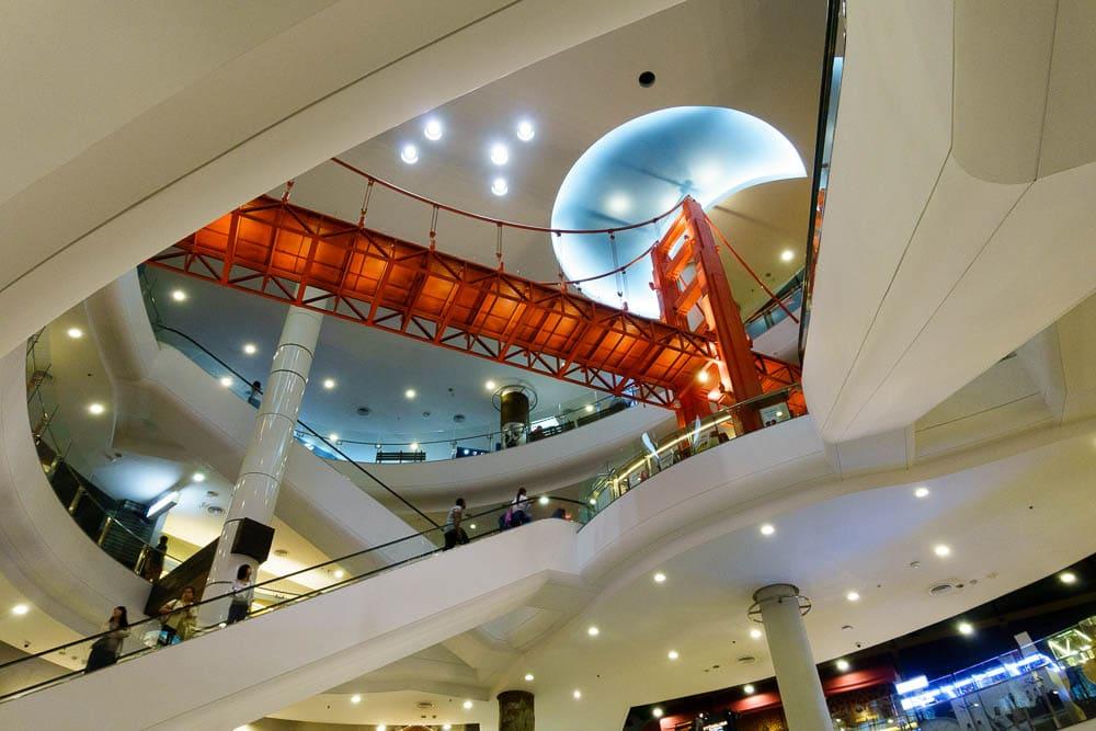 View of Golden Gate Bridge at Terminal 21 Mall Bangkok